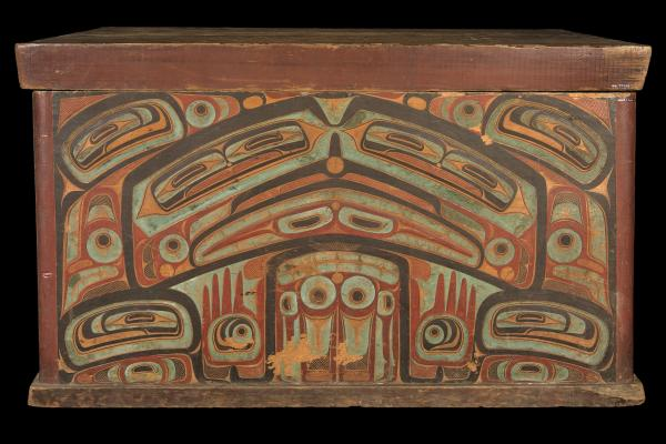 Storage box for clan treasures, Haida nation, Canada, c. 1860. Pitt Rivers Museum 1884.57.25.