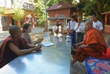 interviewing u wirathu at new masoyein monastery