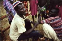 most of the blue nile refugees were stranded far from home for a generation here in bonga chief chito is presented in 2000 with family photos sent by a few who had migrated to the usa